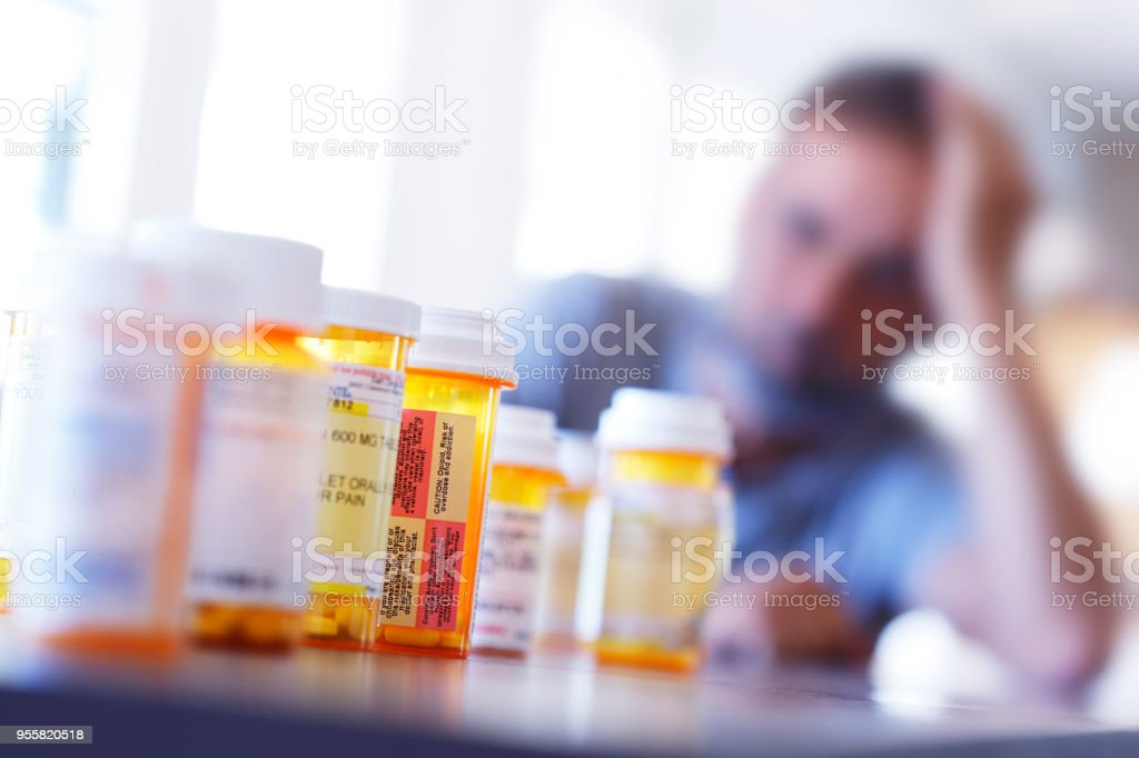 Medication Overload stock photo