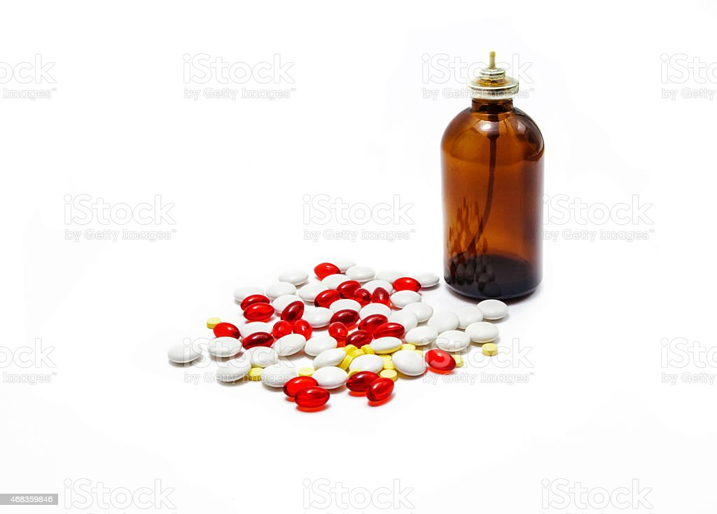 medication pills and bottle royalty-free stock photo