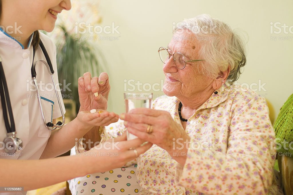 Medications for an old woman royalty-free stock photo