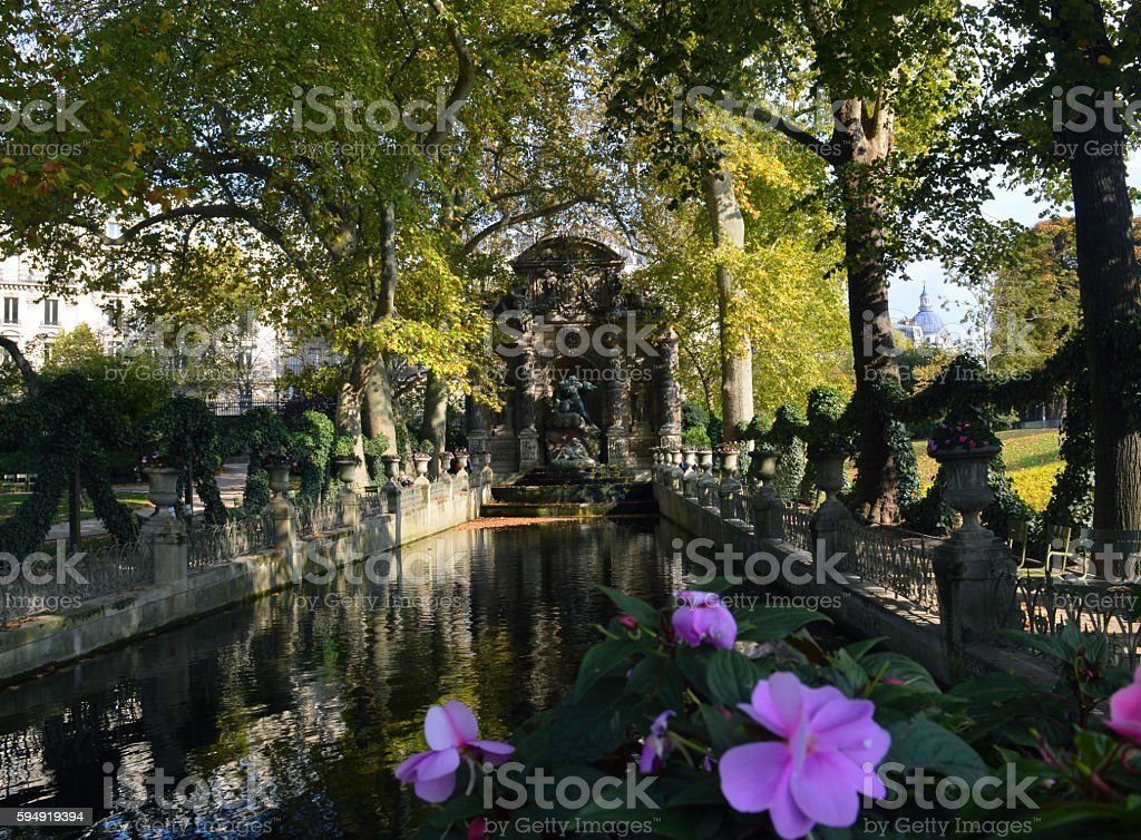 Medici Fountain Paris, France stock photo