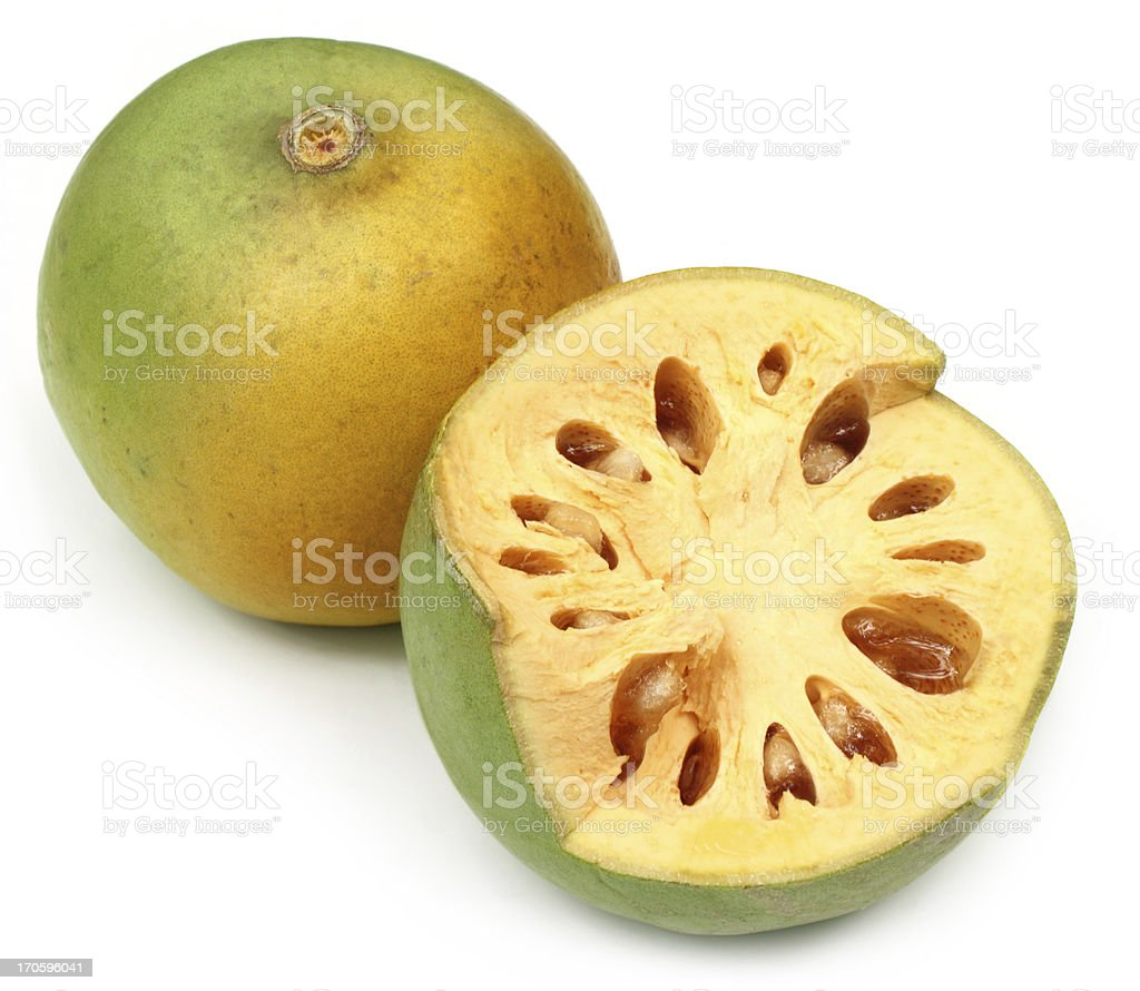 Medicinal Bael fruit of Indian subcontinent stock photo