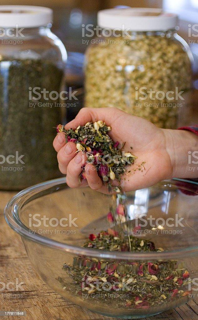 Medicinal Herbal Mix royalty-free stock photo