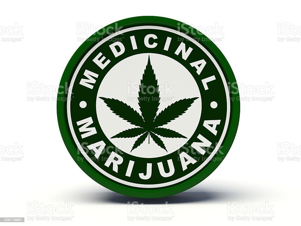 Medicinal marijuana. 3d illustration. stock photo