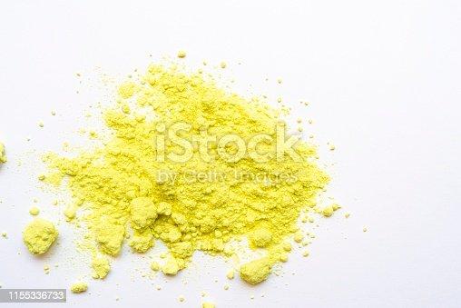 istock Medicinal sulfur powder 1155336733