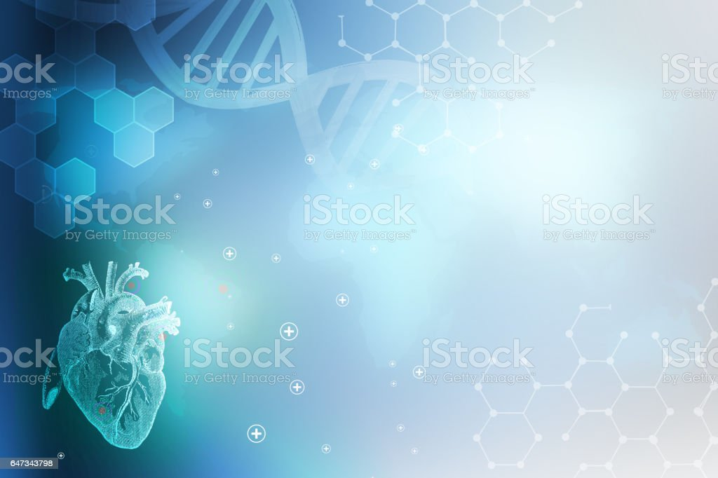 Medicine abstract heart background stock photo