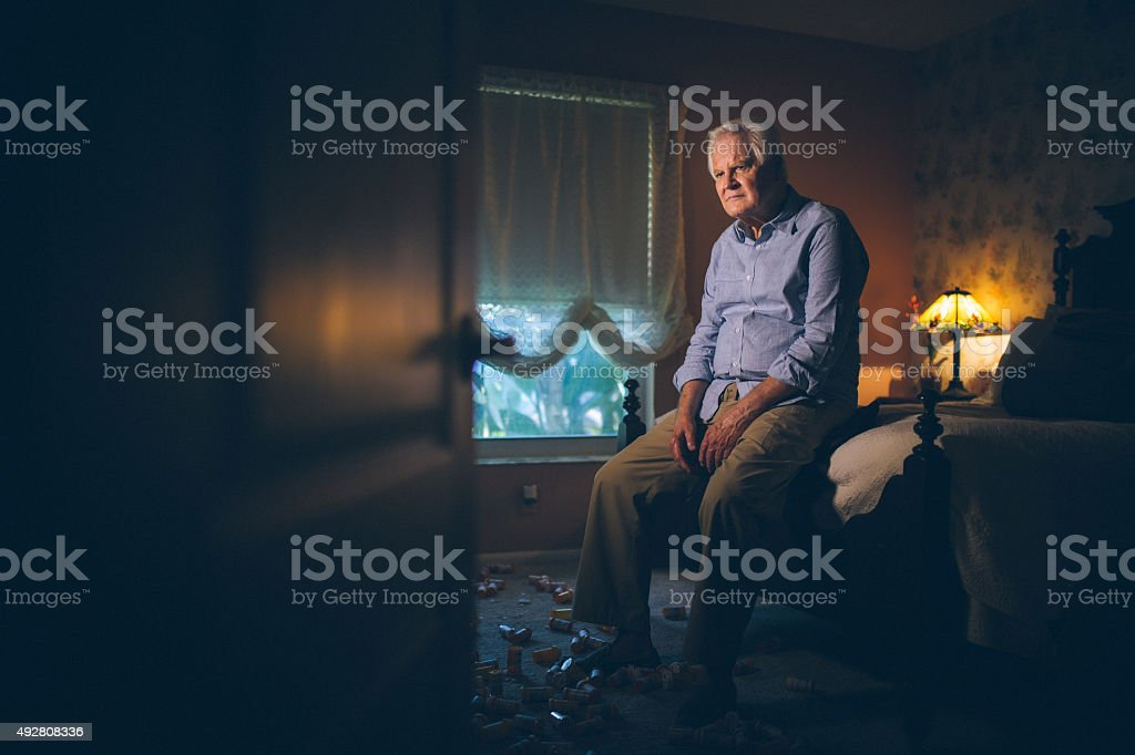 Medicine addiction stock photo