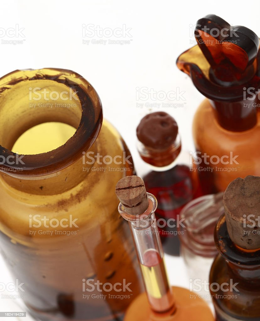 Medicine and bottles. royalty-free stock photo