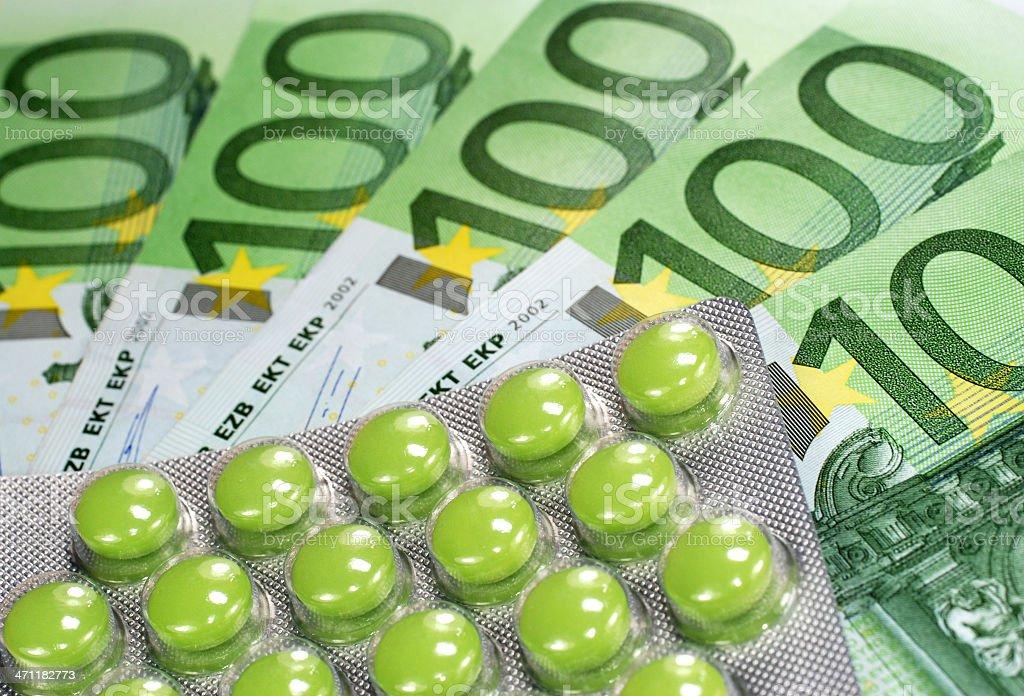 Medicine and money royalty-free stock photo