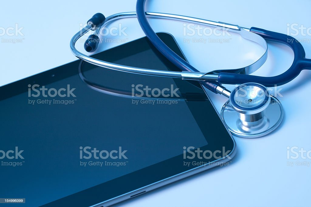 Medicine and new technology royalty-free stock photo