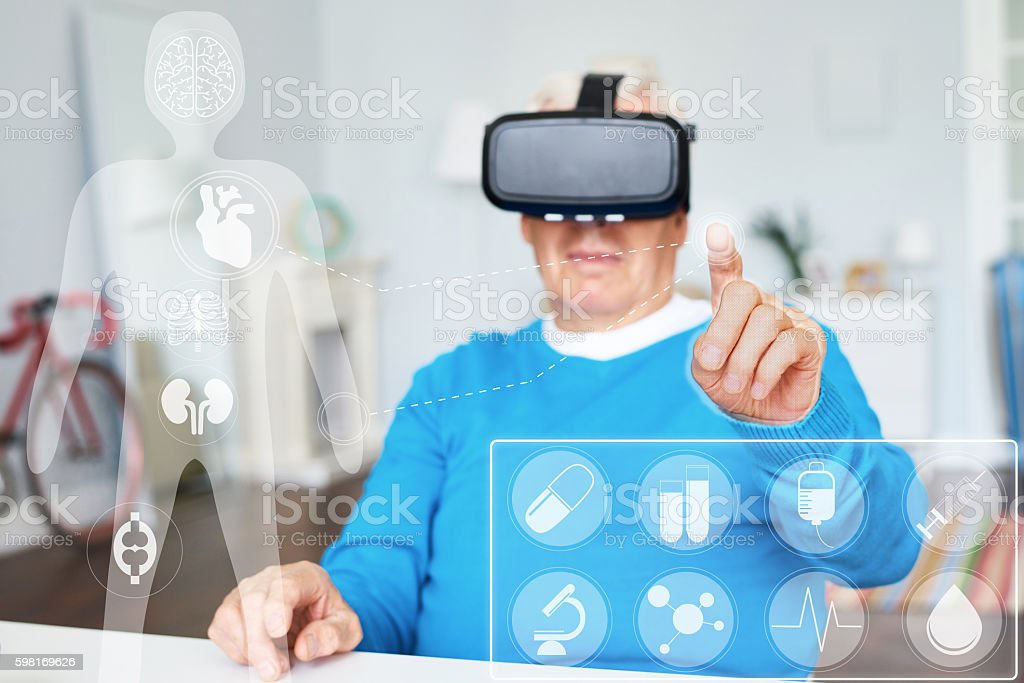 Medicine and technology stock photo