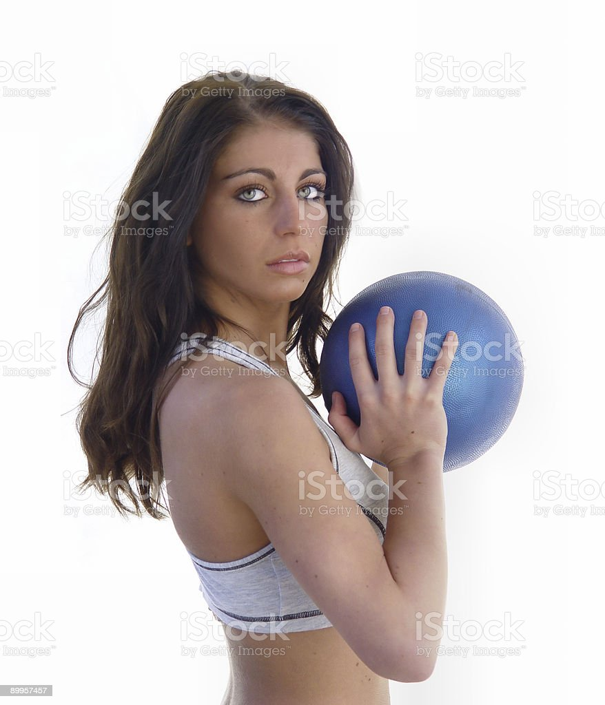medicine ball excercise royalty-free stock photo