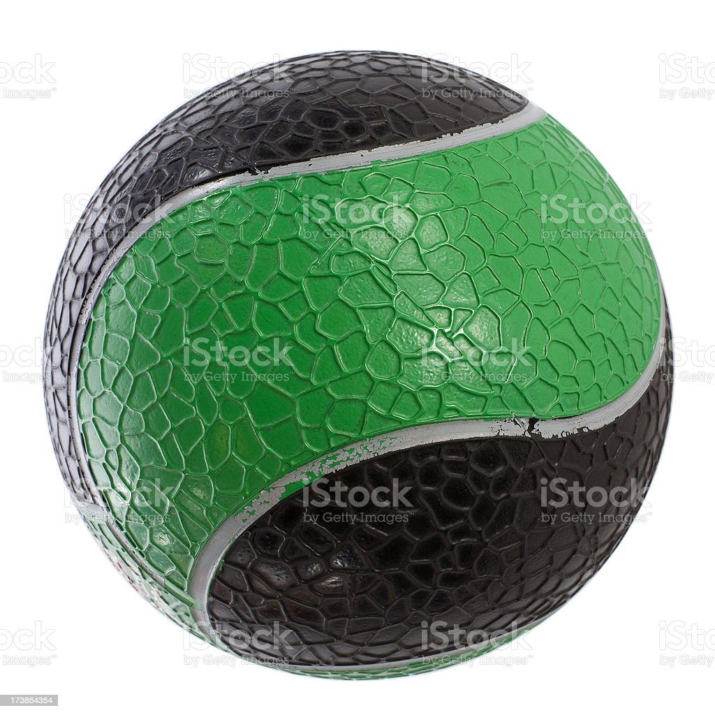 Medicine Ball (isolated on white) royalty-free stock photo