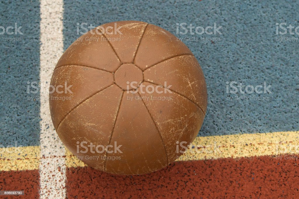 medicine ball, sports equipment stock photo