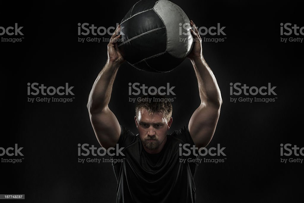 Medicine Ball Squat stock photo
