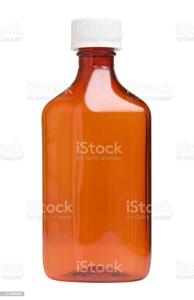 Medicina botella con trazado de recorte - foto de stock