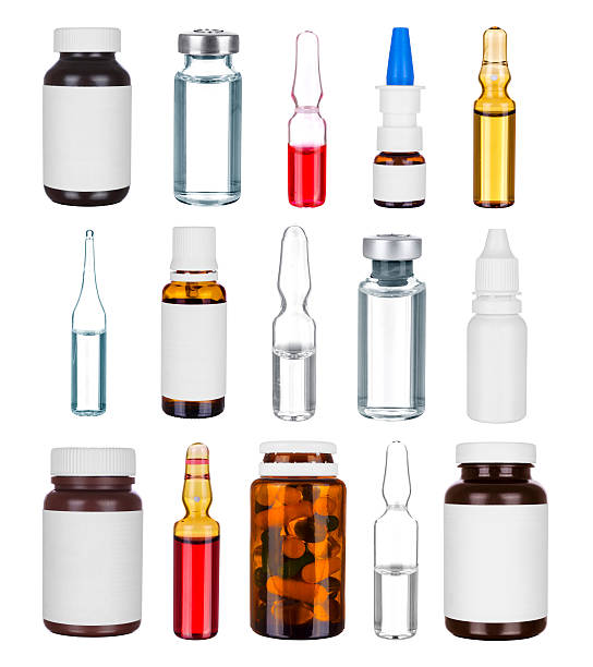 Medicine bottles stock photo