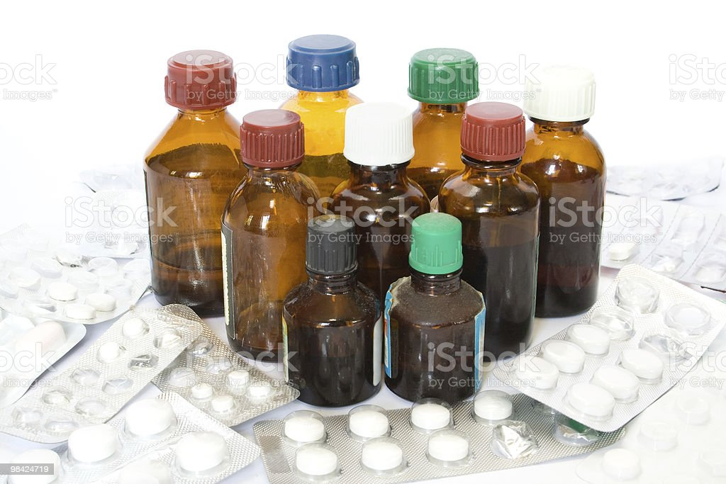 Bottiglie di medicina foto stock royalty-free