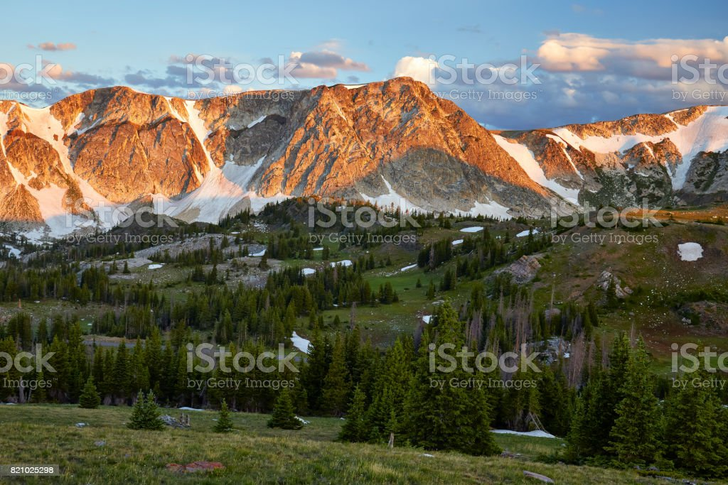 Medicine Bow Mountains, Wyoming stock photo