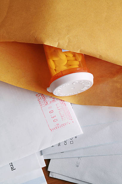 Medicine by Mail prescription medicine sent via mailAdditional Mail Order Prescriptions home shopping stock pictures, royalty-free photos & images