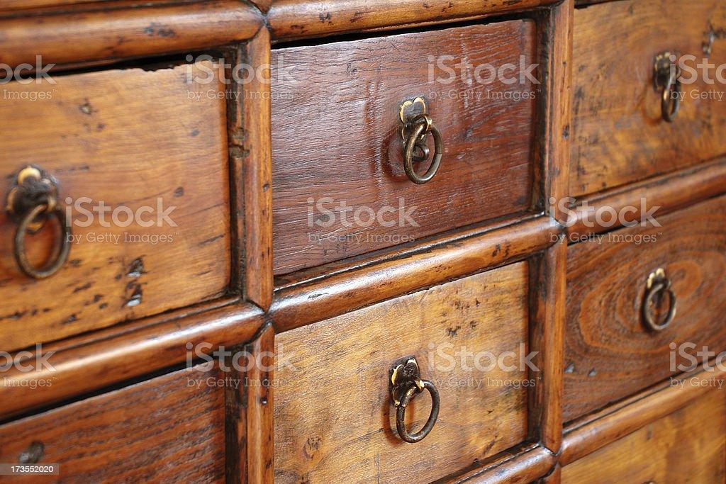 Medicine cabinet closeup stock photo
