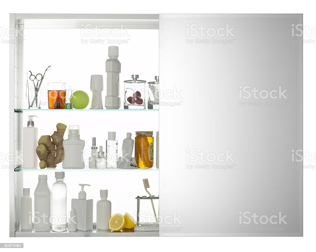 Medicine Cabinet with Mirror royalty-free stock photo
