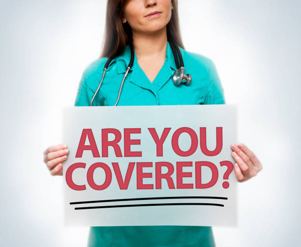 are you covered? / medicine concept (click for more) - question mark asking doctor nurse stock photos and pictures