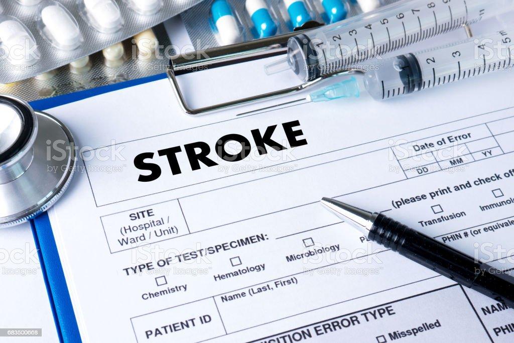 STROKE Medicine doctor hand working Professional - Photo