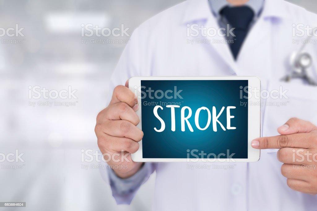 STROKE Medicine doctor hand working Professional stock photo