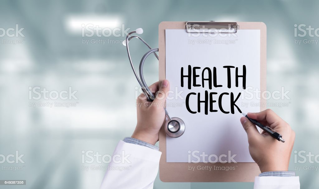 HEALTH CHECK Medicine doctor working with computer interface as medical stock photo