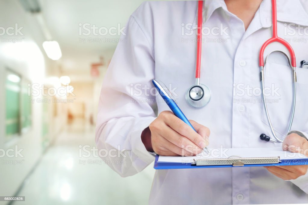 Medicine doctor's working concept in hotpital stock photo