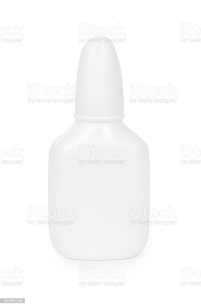 Medicine Dropper Bottle Isolated on White Background stock photo