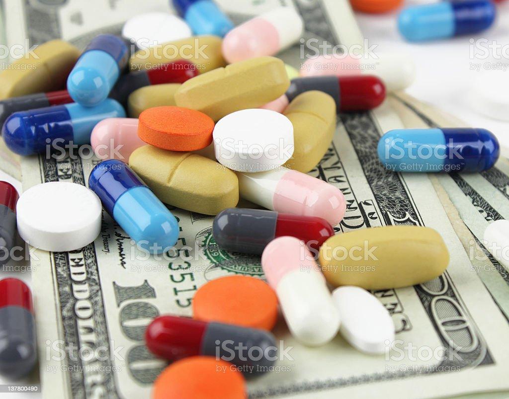 Medicine expenses stock photo