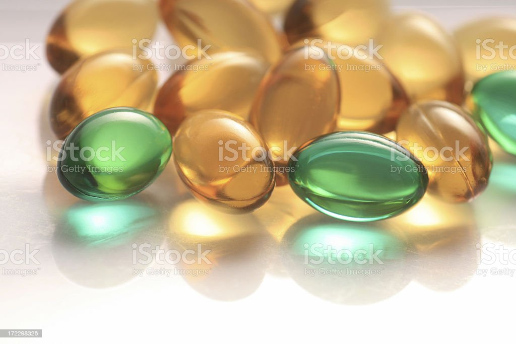 Medicine gel capsules royalty-free stock photo