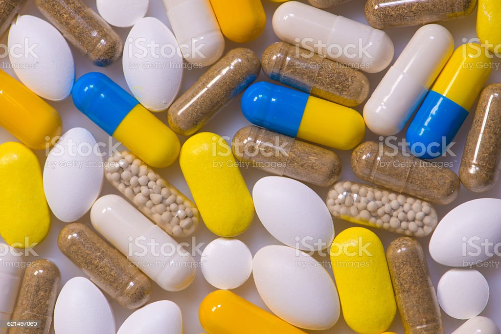 Medicine, Healthcare, Pharmaceuticals, Food supplements and homeopathy foto stock royalty-free