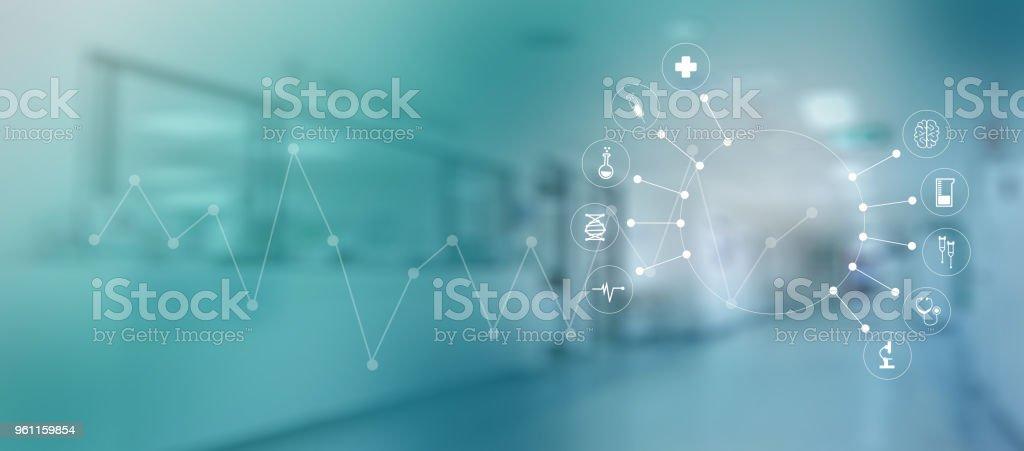 Medizin-Herz Medizin Arzt Technologie Konzept medizinisches Netzwerk Netzwerkverbindung – Foto