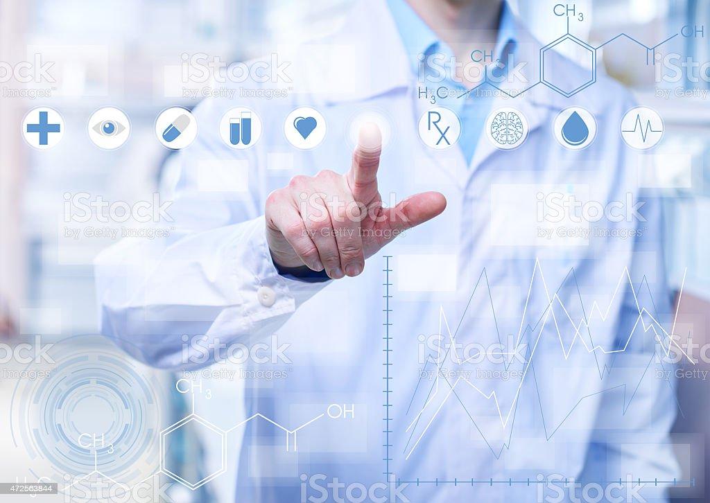 Medicine of the future stock photo