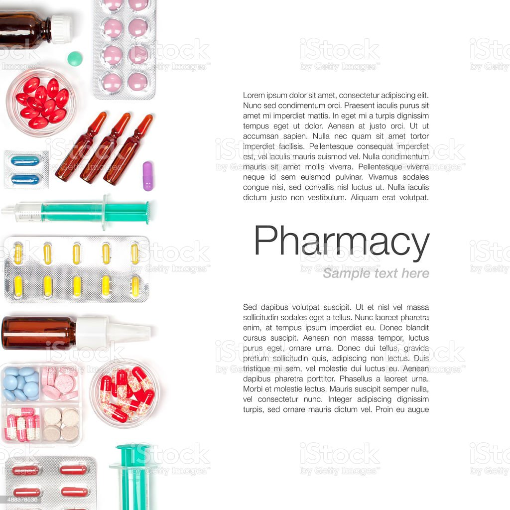 medicine on white background stock photo