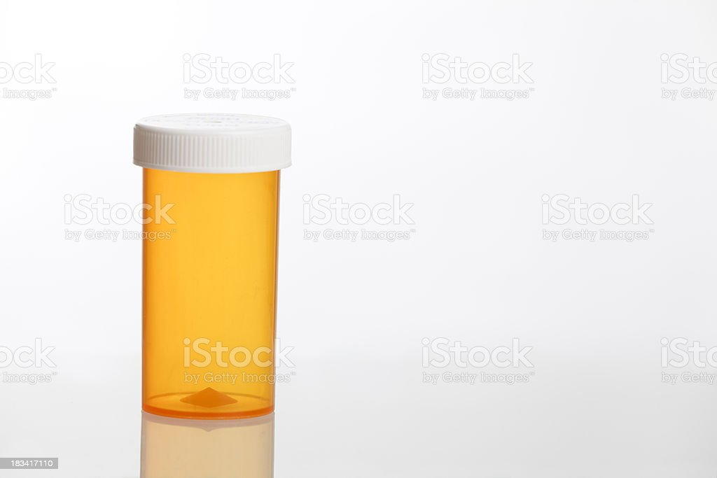medicine pill bottle stock photo