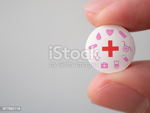 1029077176istockphoto Medicine pills or capsules in hand, palm or fingers. Drug prescription for treatment medication. Pharmaceutical medicament for health. Antibiotic, painkiller 977992118