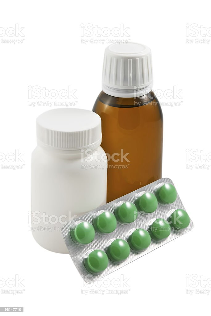 Medicine set isolated  on the white background royalty-free stock photo