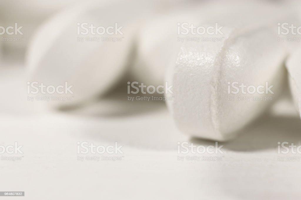 Medicine Tablets. Pharmacy Pills Background. Macro Closeup. royalty-free stock photo