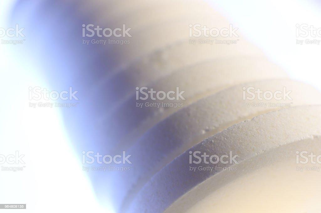 Medicine Tablets Stack. Big White Pharmacy Pills on Isolated Background. Macro Closeup. royalty-free stock photo