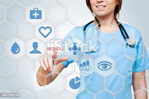 istock Medicine touch screen concept (Click for more) 531243119