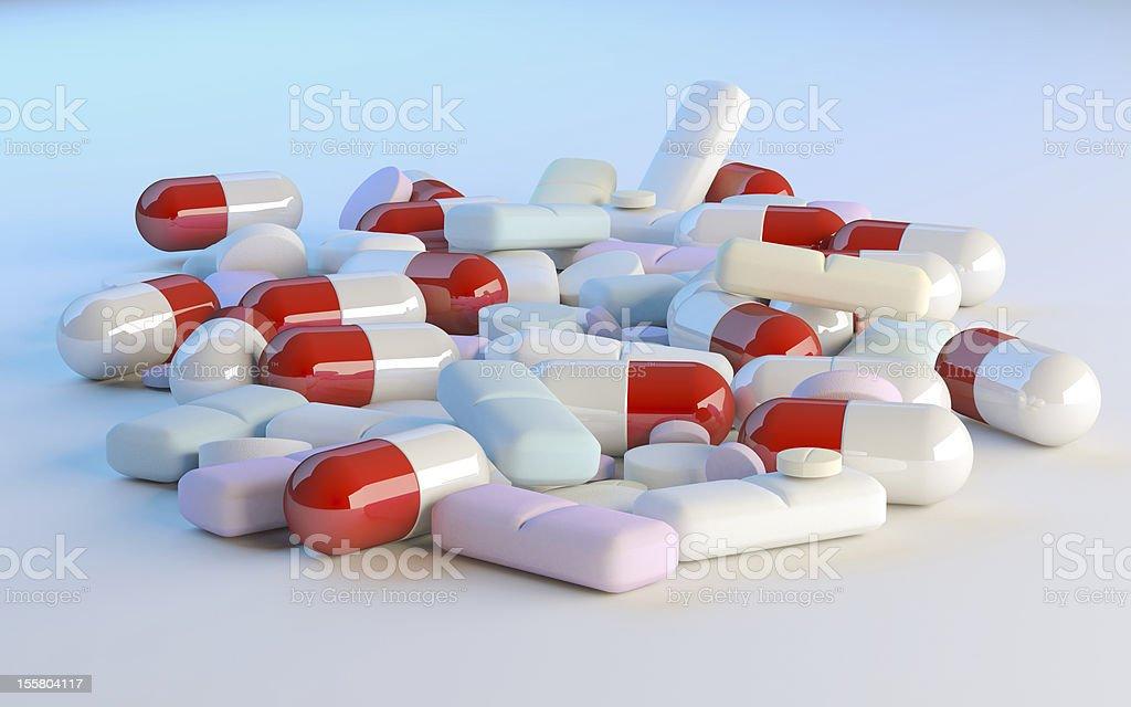 Medicinel capsules royalty-free stock photo