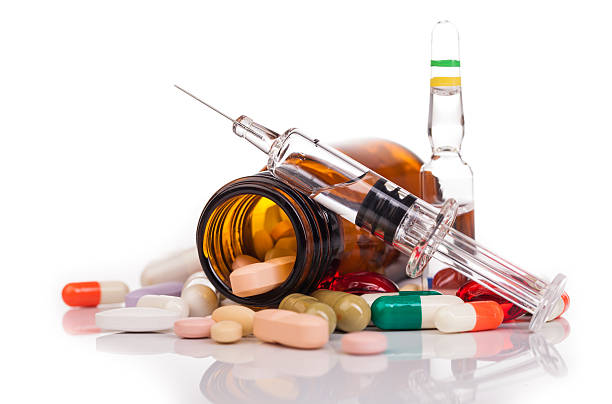 medicines and drugs on table – Foto