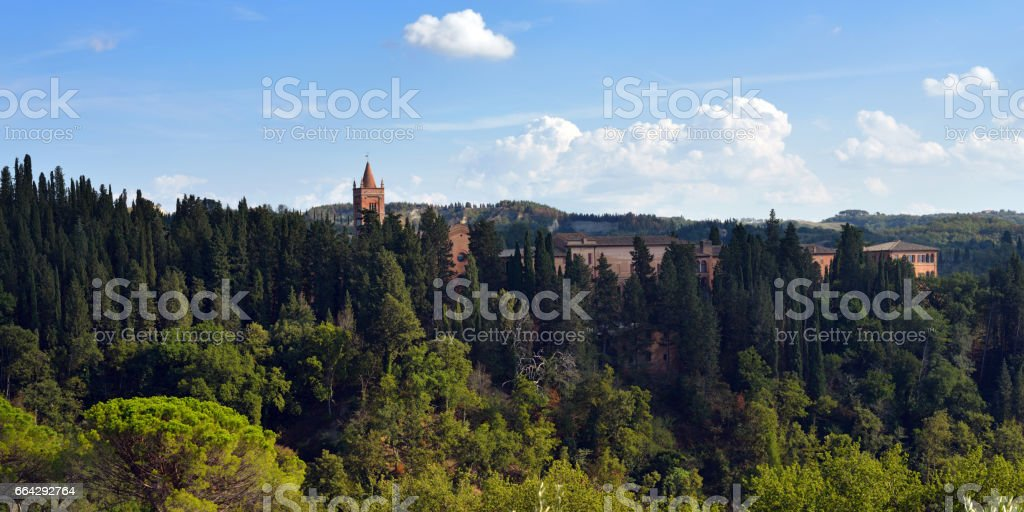 Medieval Abbey stock photo