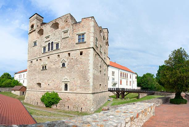 Medieval aged stone royal castle and fortress Rakoczi in Sarospatak stock photo