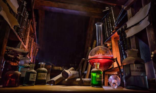 Mittelalterlichen alchemistischen Labor – Foto