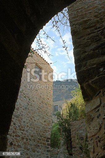 Alley in Monemvasia Byzantine fortress town
