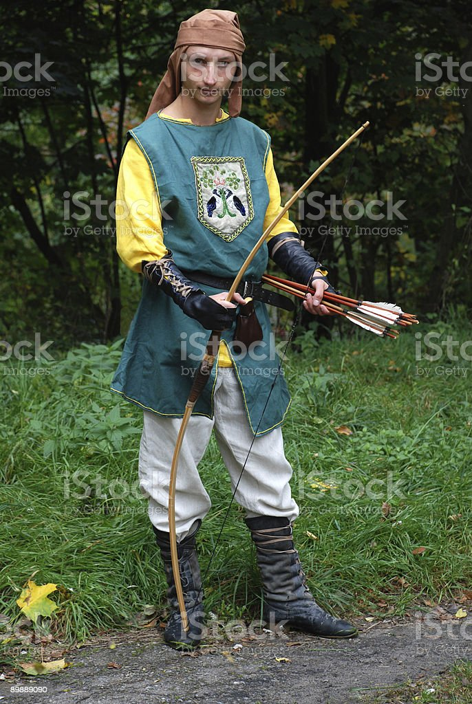 Medieval archer royalty-free stock photo
